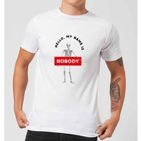 Hello, My Name Is Nobody Men's T-Shirt - White - L - White from Halloween