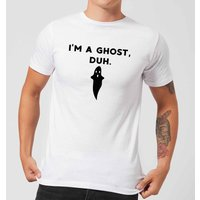 I'm A Ghost, Duh. Men's T-Shirt - White - XL - White from Halloween
