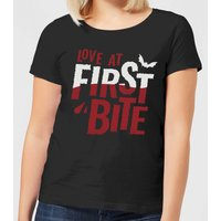 Love at First Bite Women's T-Shirt - Black - S - Black from Halloween