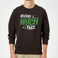 Resting Witch Face Sweatshirt - Black - XXL - Black from Halloween