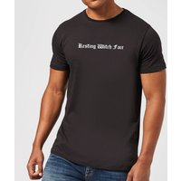 Resting Witch Face Men's T-Shirt - Black - L - Black from Halloween