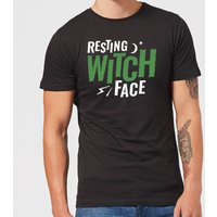 Resting Witch Face Men's T-Shirt - Black - XXL - Black from Halloween