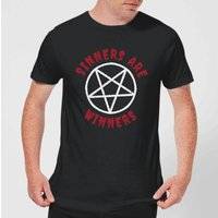 Sinners Are Winners Men's T-Shirt - Black - S - Black from Halloween