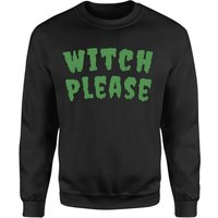 Witch Please Sweatshirt - Black - S - Black from Halloween