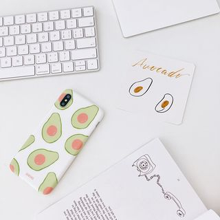 Avocado Print Mobile Case - iPhone XS Max / XS / XR / X / 8 / 8 Plus / 7 / 7 Plus / 6s / 6s Plus from Handy Pie