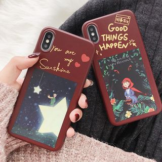 Cartoon Print Mobile Case - iPhone XS Max / XS / XR / X / 8 / 8 Plus / 7 / 7 Plus / 6s / 6s Plus from Handy Pie