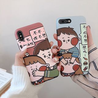 Cartoon Print Phone Case - iPhone 6 / 6 Plus / 7 / 7 Plus / 8 / 8 Plus / X / XS / XR / XS Max from Handy Pie