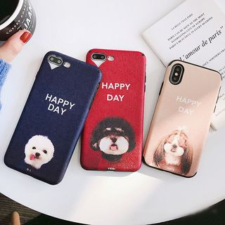 Dog Print Mobile Case - iPhone X / 8 / 8 Plus / 7 / 7 Plus / 6S / 6S Plus from Handy Pie
