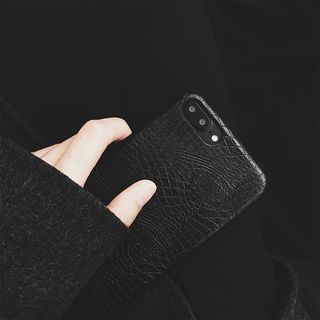 Embossed Faux Leather Mobile Case - iPhone 7 / 7 Plus / 6S / 6S Plus / SE from Handy Pie