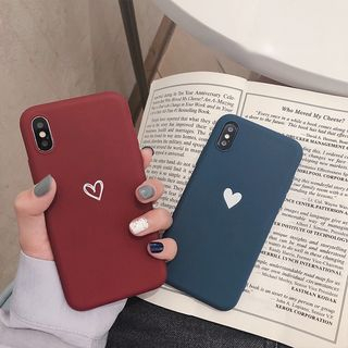 Heart Print Mobile Case - iPhone XS Max / XS / XR / X / 8 / 8 Plus / 7 / 7 Plus / 6S / 6S Plus from Handy Pie