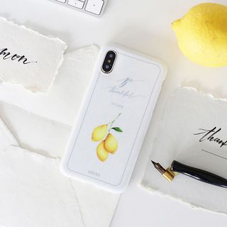 Lemon Print Mobile Case - iPhone XS Max / XS / XR / X / 8 / 8 Plus / 7 / 7 Plus / 6s / 6s Plus from Handy Pie