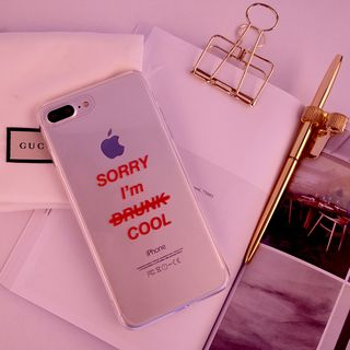 Lettering Transparent Mobile Case - iPhone X / 8 / 8 Plus / 7 / 7 Plus / 6s / 6s Plus from Handy Pie
