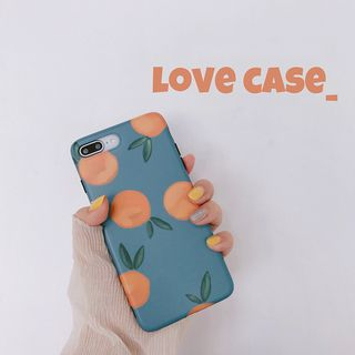 Orange Print Phone Case - iPhone X / 8 / 8 Plus / 7 / 7 Plus / 6S / 6S Plus / 6 / 6 Plus from Handy Pie