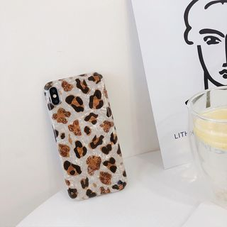 Scallop Texture Leopard Print Mobile Case - iPhone XS Max / XS / XR / X / 8 / 8 Plus / 7 / 7 Plus / 6s / 6s Plus from Handy Pie