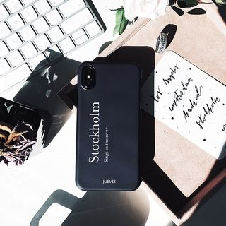 Stockholm Lettering Mobile Case - iPhone / OPPO / Xiaomi / Huawei from Handy Pie