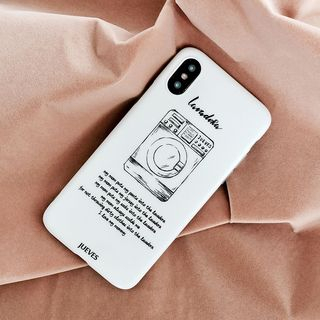 Washing Machine Print Mobile Case - iPhone XS Max / XS / XR / X / 8 / 8 Plus / 7 / 7 Plus / 6s / 6s Plus from Handy Pie