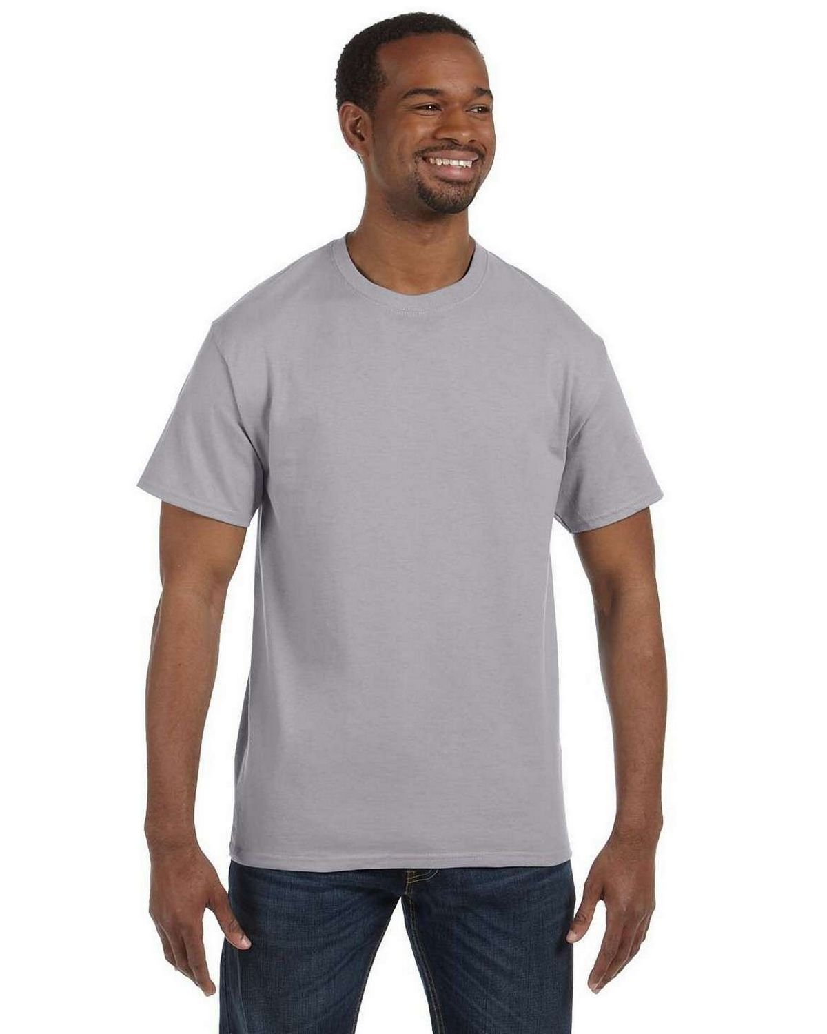 Hanes 5250T Men's Tagless T Shirt - Oxford Grey - S from Hanes