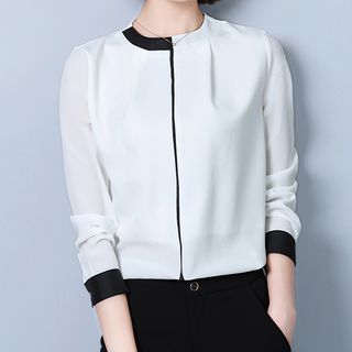 Color Block Blouse from Happo