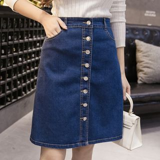 Denim A-Line Skirt from Happo