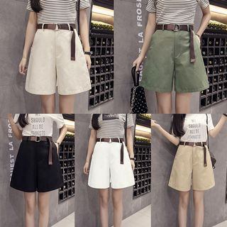 High Waist Wide-Leg Shorts from Happo