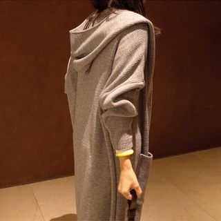 Hooded Knit Coat from Happo