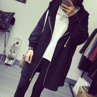 Hooded Long Zip Jacket from Happo
