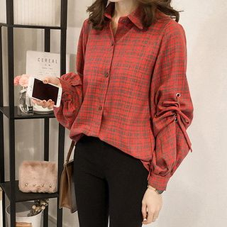 Plaid Blouse from Happo