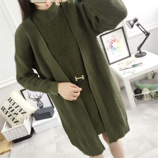 Set: Knit Sleeveless Dress + Long Cardigan from Happo