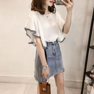Short-Sleeve Chiffon Top from Happo
