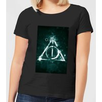 Harry Potter Hallows Painted Women's T-Shirt - Black - XL - Black from Harry Potter