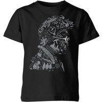 Harry Potter Harry Potter Head Kids' T-Shirt - Black - 5-6 Years - Black from Harry Potter