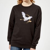 Harry Potter Hedwig Broom Women's Sweatshirt - Black - S - Black from Harry Potter