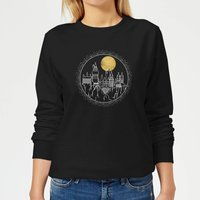 Harry Potter Hogwarts Castle Moon Women's Sweatshirt - Black - L - Black from Harry Potter
