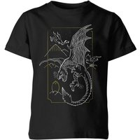 Harry Potter Hungarian Horntail Dragon Kids' T-Shirt - Black - 11-12 Years - Black from Harry Potter