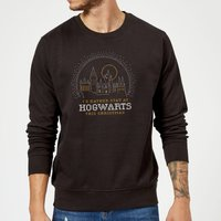 Harry Potter I'd Rather Stay At Hogwarts Christmas Sweatshirt - Black - 5XL - Black from Harry Potter