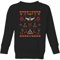 Harry Potter Knit Kids' Christmas Sweatshirt - Black - 9-10 Years - Black from Harry Potter