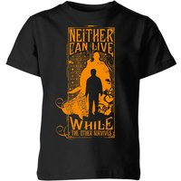 Harry Potter Neither Can Live Kids' T-Shirt - Black - 7-8 Years - Black from Harry Potter