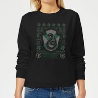 Harry Potter Slytherin Crest Women's Christmas Sweatshirt - Black - XL - Black from Harry Potter