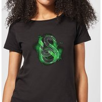 Harry Potter Slytherin Geometric Women's T-Shirt - Black - L - Black from Harry Potter