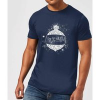 Harry Potter Yule Ball Baubel Men's Christmas T-Shirt - Navy - XXL - Navy from Harry Potter