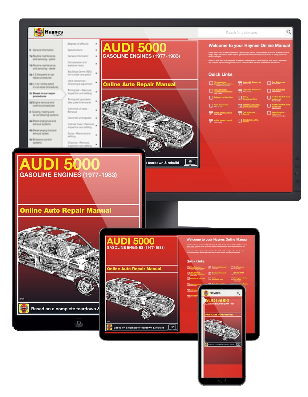 Audi 5000 with Gas Engines (77-83) Haynes Online Manual from Haynes Manuals US