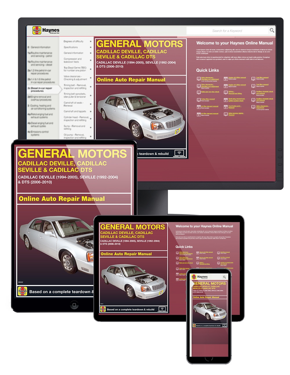 Cadillac DeVille (94-05), Seville (92-04) & DTS (06-10) Haynes Online Manual from Haynes Manuals US