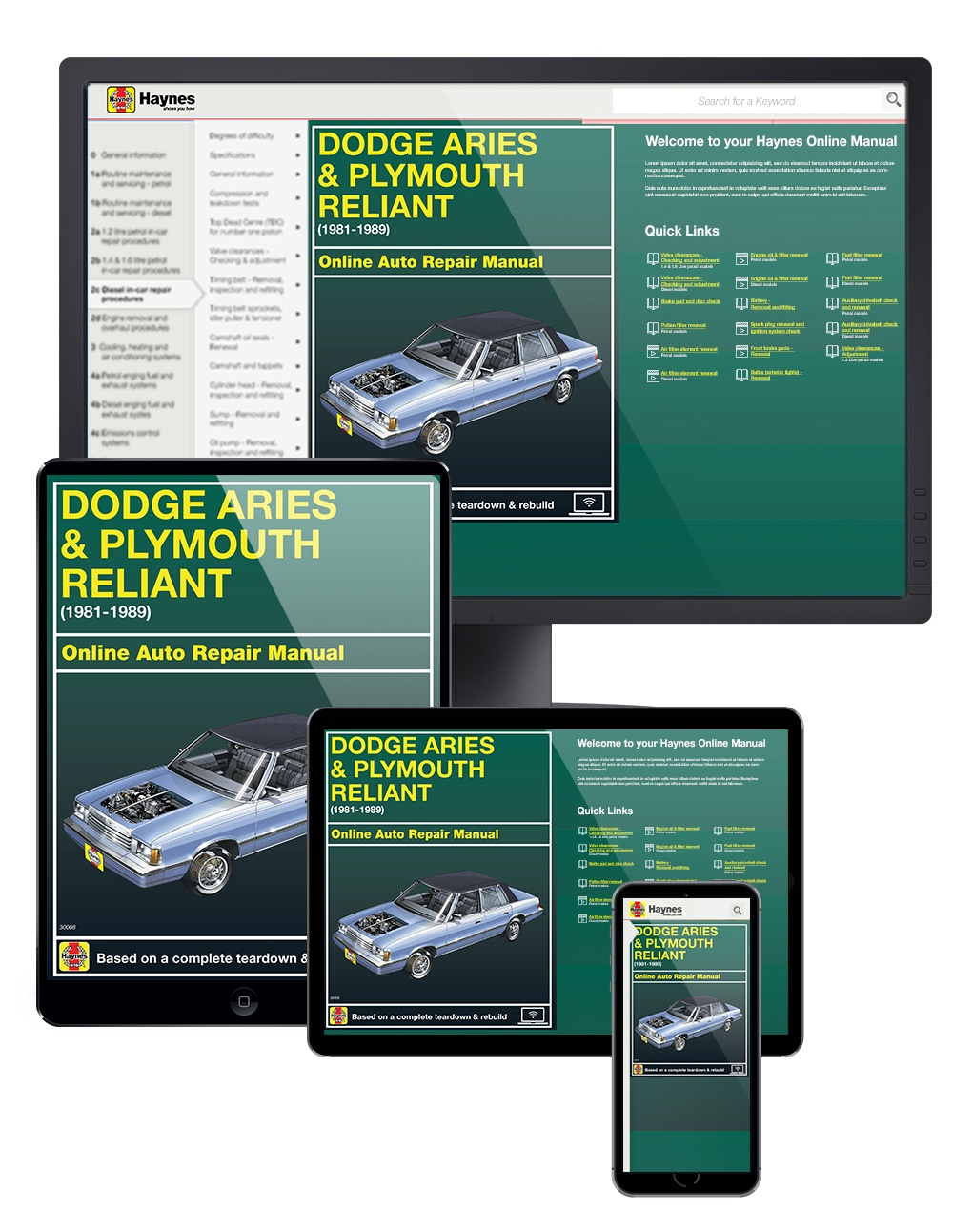 Dodge Aries & Plymouth Reliant (81-89) Haynes Online Manual from Haynes Manuals US