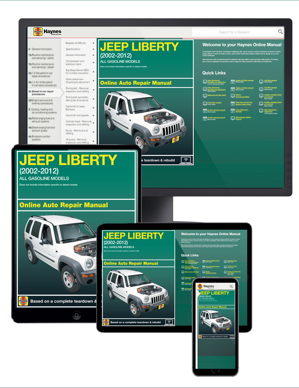 Jeep Liberty (02-12) Haynes Online Manual from Haynes Manuals US