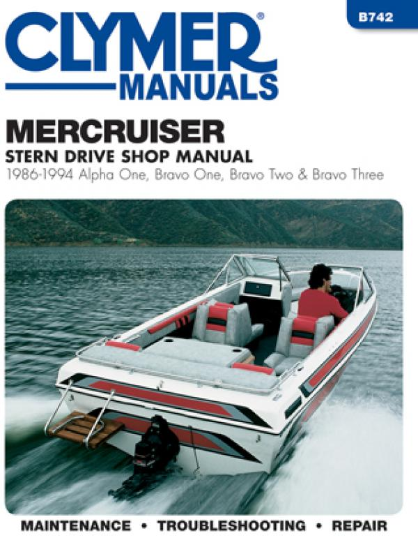 Mercruiser Alpha One, Bravo One, Two & Three Stern Drives (1986-1994) Service Repair Manual Online Manual from Haynes Manuals US