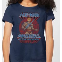 He-Man Distressed Women's T-Shirt - Navy - S - Navy from He-Man