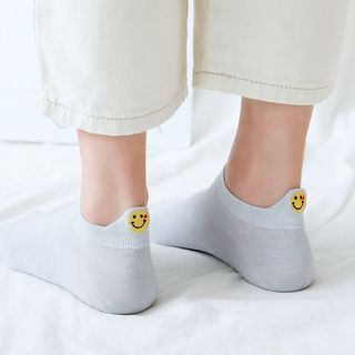 Smiley Face Embroidery Socks from Hearthpi