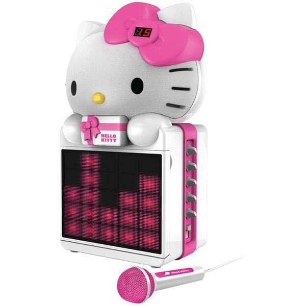 Hello Kitty KT2008B Karaoke System with LED Light Show from Hello Kitty
