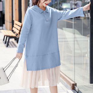 Maternity Long-Sleeve Polo Dress from Hiccup