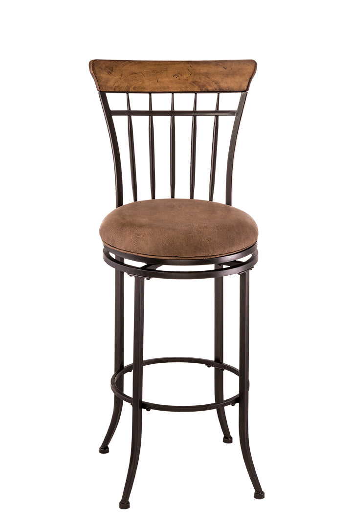 Hillsdale 4670-831 Charleston Swivel Vertical Spindle Bar Stool from Hillsdale Furniture
